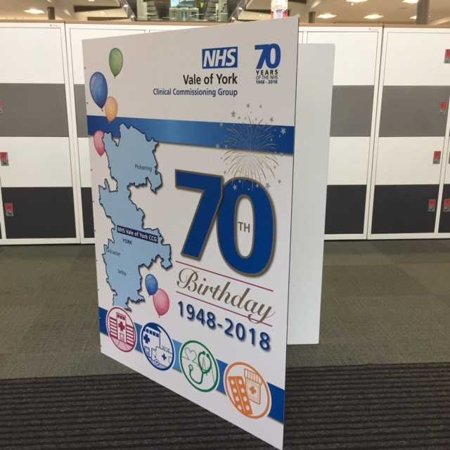 Vale Of York Residents Invited To Sign Giant Nhs 70th Birthday Card